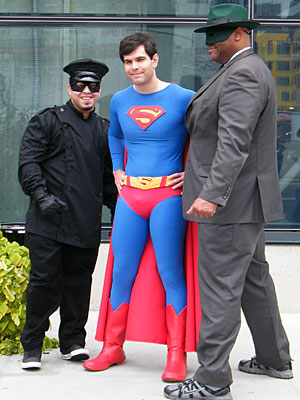 Kato, Superman, and Green Hornet at NYCC 2013