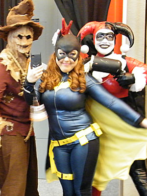Scarecrow, Batgirl, and Harley Quinn at NYCC 2014