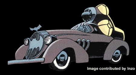 Haunted Gotham Batmobile
